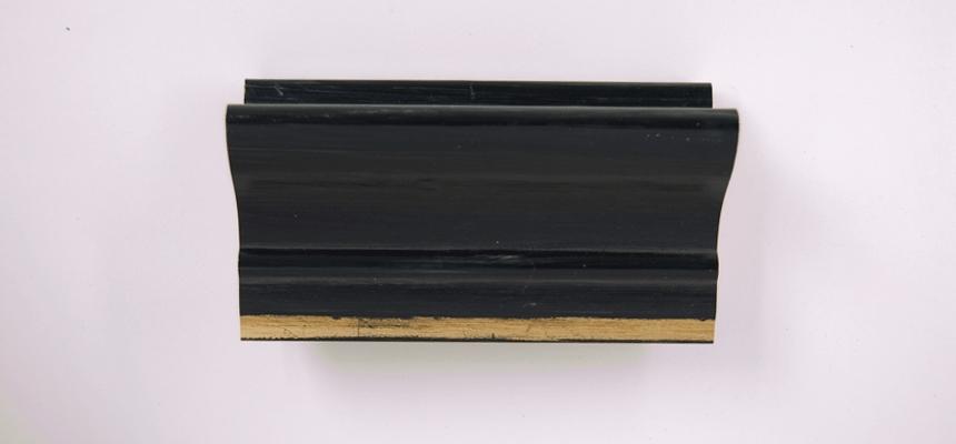 H3E20S Goud - zwart handgegrondeerd